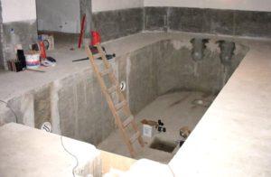 Строительство бетонного бассейна