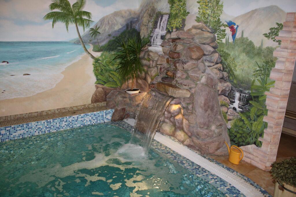 Водопады для бассейна. Стеновой